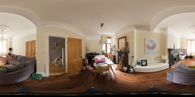Test number 2 - our living room. Almost looks today...
