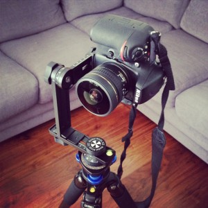 Nikon D800 mounted on Nodal Ninja 2