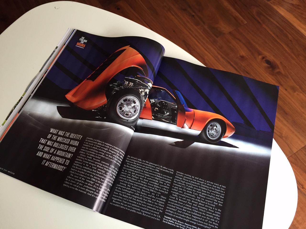 Lamborghini Miura Octane Magazine Spead