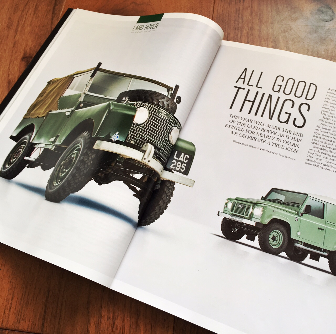 Octane Magazine Land Rover Defender Feature