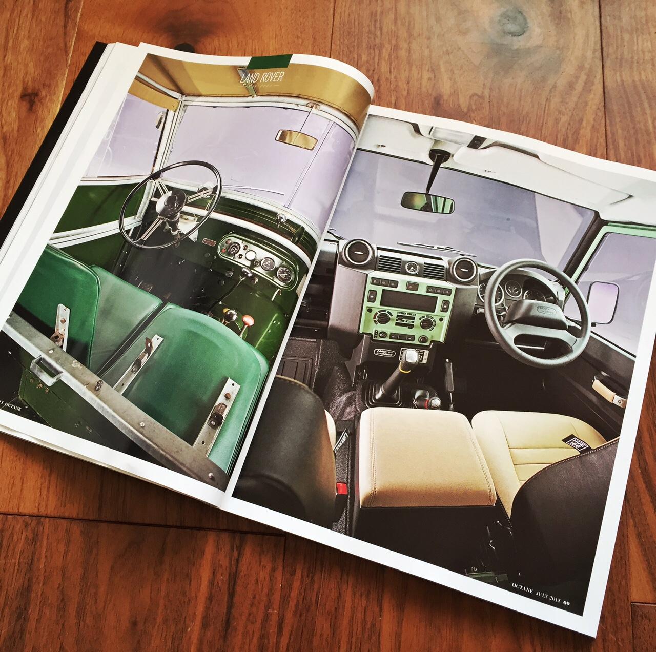 Octane Magazine Land Rover Defender Feature